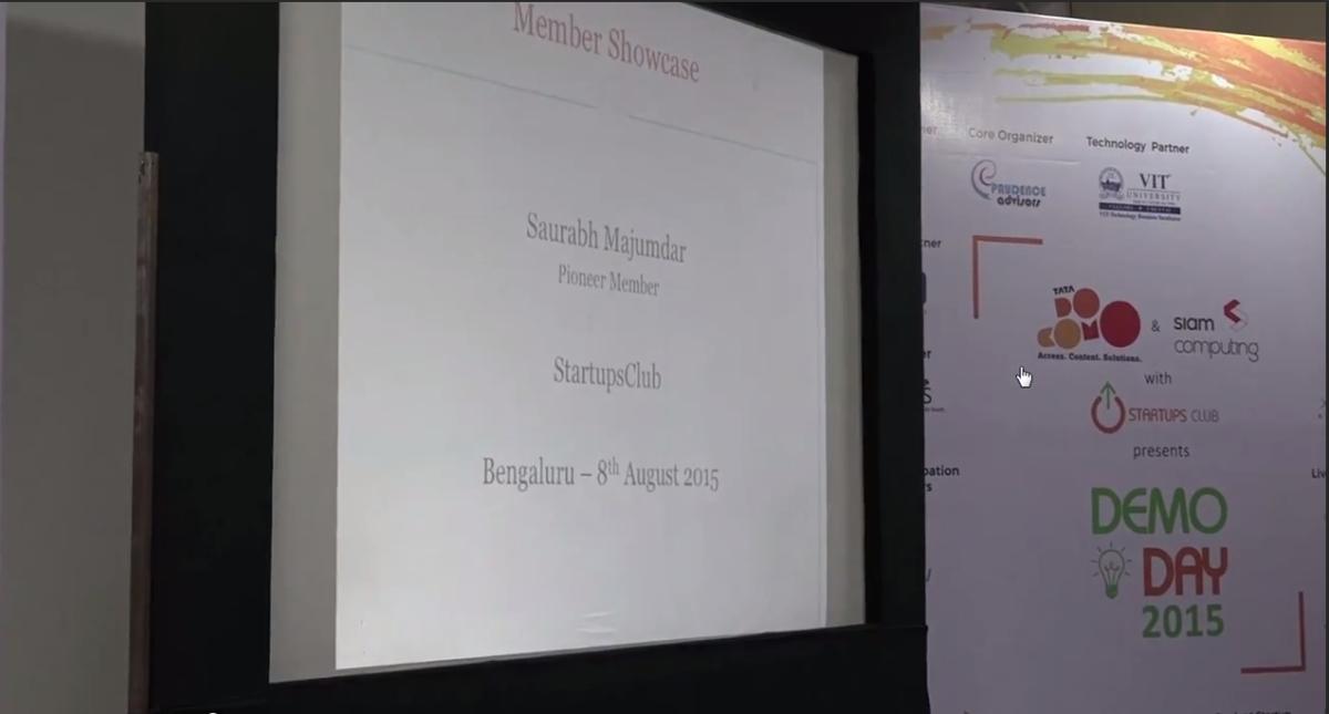 Saurabh Majumdar Speaking at Startups Club – Demo Day 2015, Bengaluru